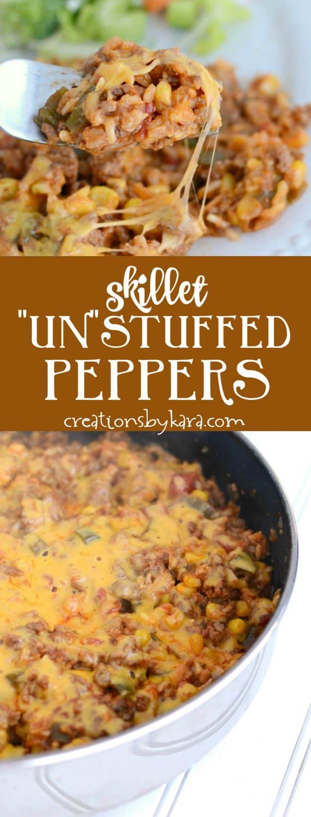 Love stuffed green peppers but not all the hassle? Give these skillet stuffed peppers a try. All the flavor of the classic recipe, but so much easier!