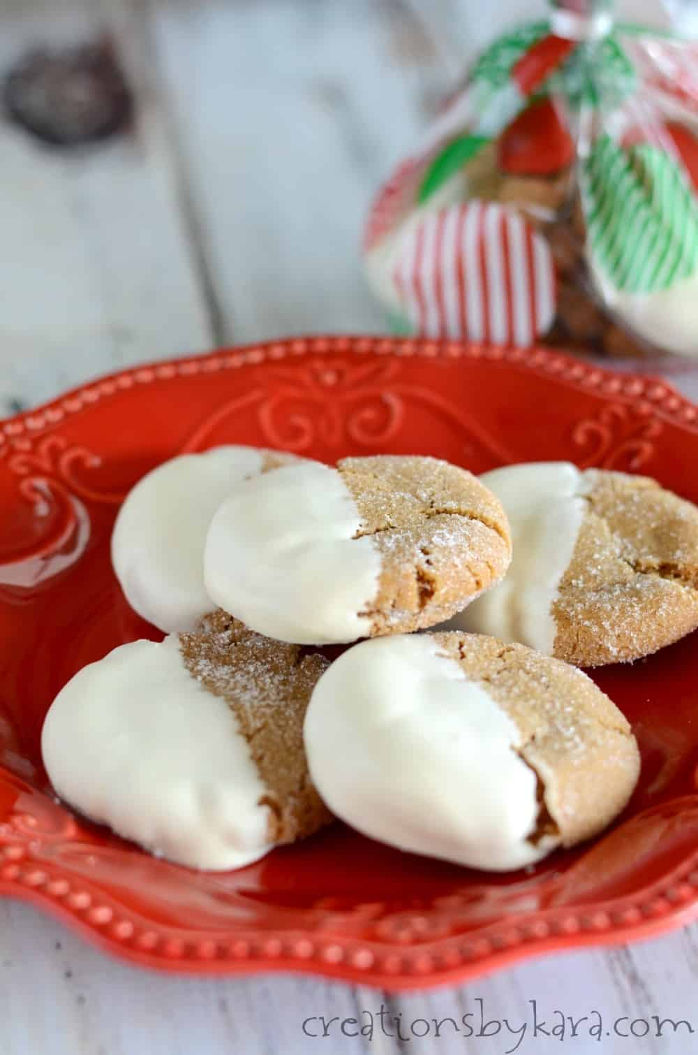 Soft and chewy, these ginger cookies are a family favorite. I always get recipe requests for these gingersnaps!