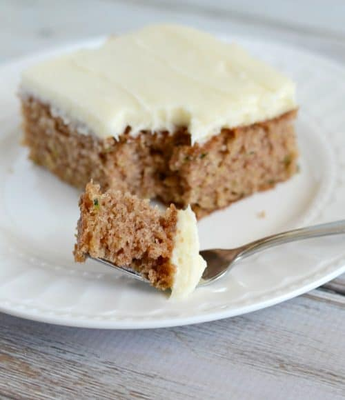 If you love carrot cake, you should give Zucchini Cake a try. It is just as delicious!