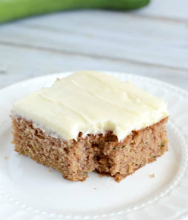 Zucchini Cake with Cream Cheese Frosting . . . This recipe for zucchini cake is always a hit. The cake is spiced with cinnamon, and it pairs just beautifully with the cream cheese frosting.