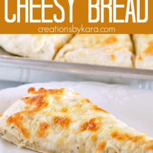 easy cheese bread pinterest pin