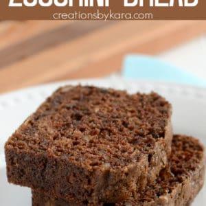 easy chocolate zucchini bread pinterest pin