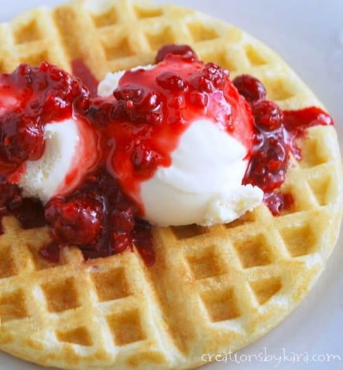 If you've never tried waffles with ice cream and berries, you are missing out!