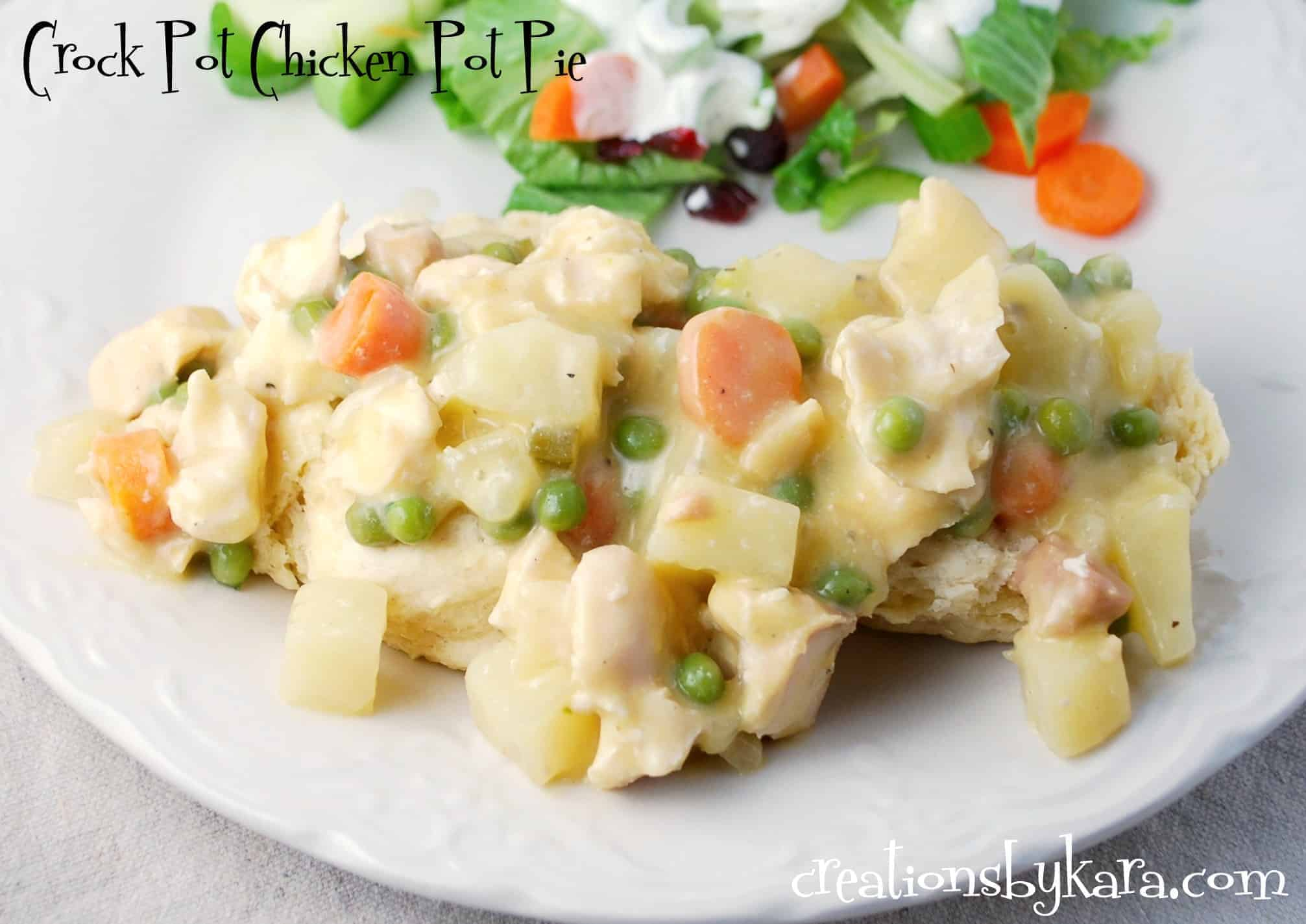 crock pot chicken pot pie chicken haystacks revamped recipe chicken ...
