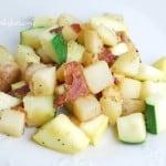 Zucchini Bacon Potato Skillet