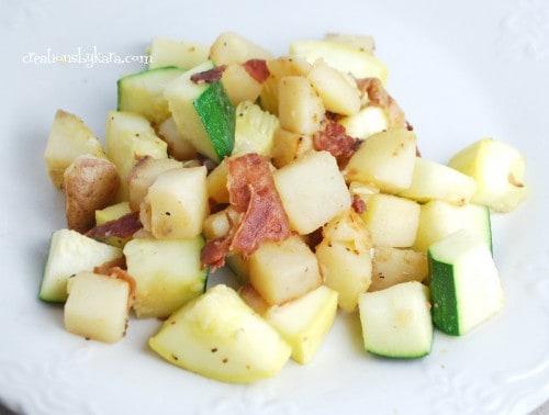 zucchini-bacon-bacon-skillet