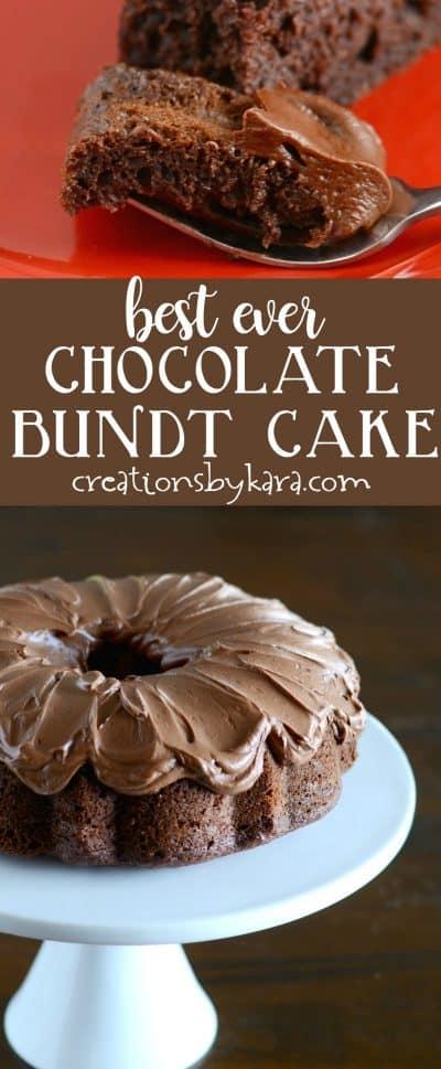 Chocolate Easter Bundt Cake Accompaniment