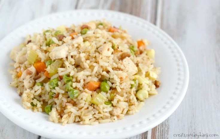 Have leftover rice? Make this tasty chicken fried rice. A perfect family dinner recipe.