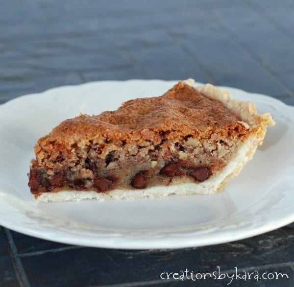Whether you serve it hot or at room temperature, this Chocolate Chip Pecan Pie will win you rave reviews!