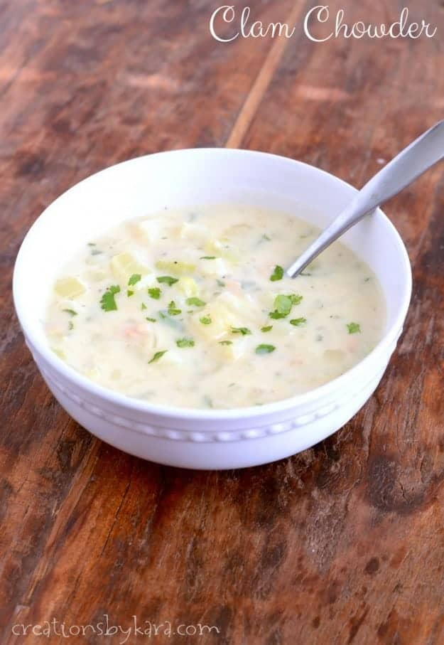 Recipe for clam chowder