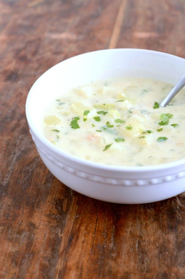 How to make clam chowder from scratch. I got the recipe from my grandma, and it is the best!
