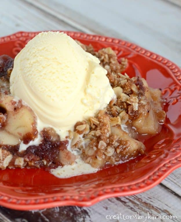 I always get rave reviews when I serve this cranberry apple crisp. A family favorite for years!