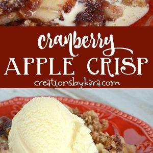 recipe for cranberry apple crisp