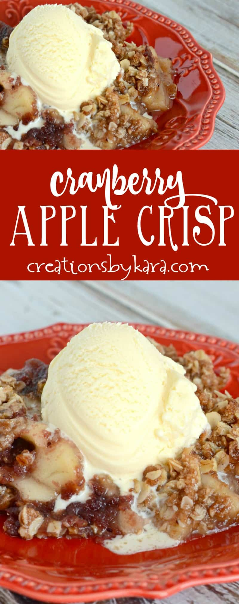 Even non cranberry fans love this Cranberry Apple Crisp. It is absolutely out of this world! A must try apple crisp recipe.