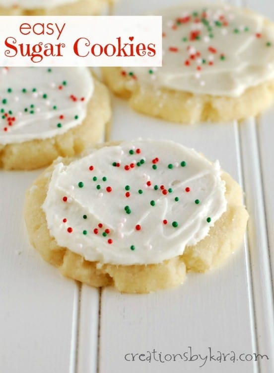 Recipe for Easy Sugar Cookies that do not need to be rolled out on the counter. A huge time saver!