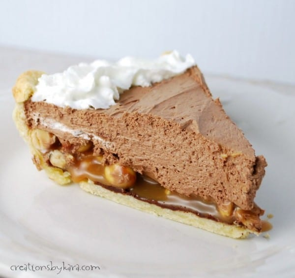 Chocolate Pie with Caramel and Peanuts