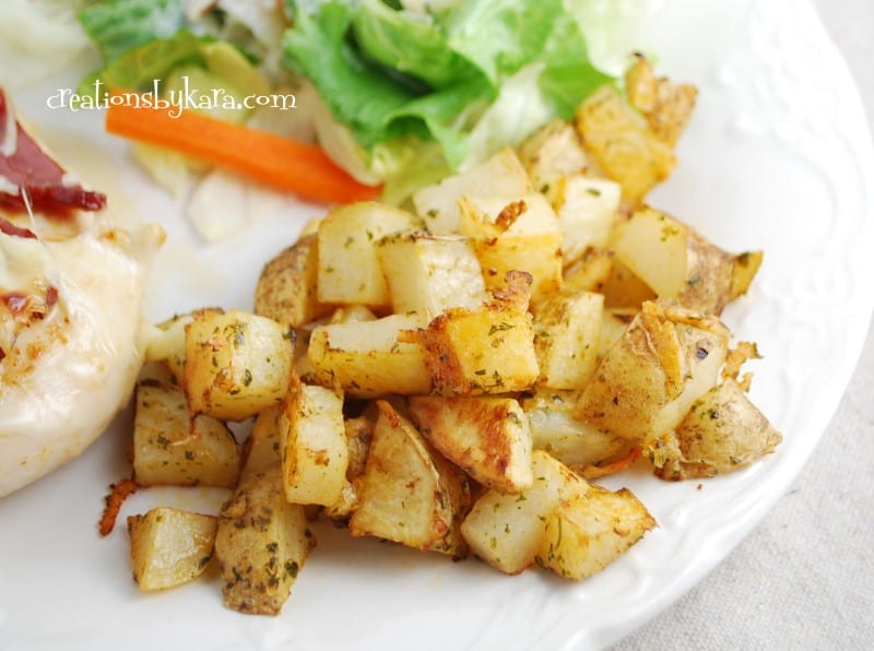 parmesan roasted potatoes 002