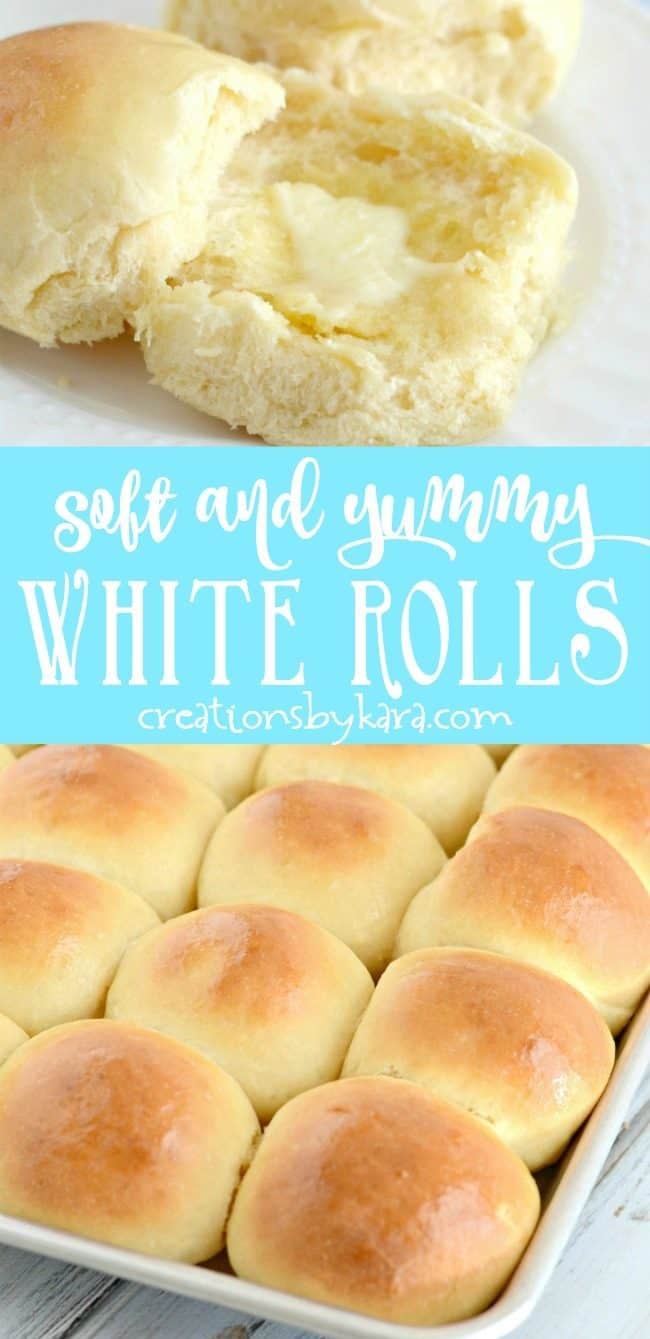 soft and yummy white rolls recipe collage