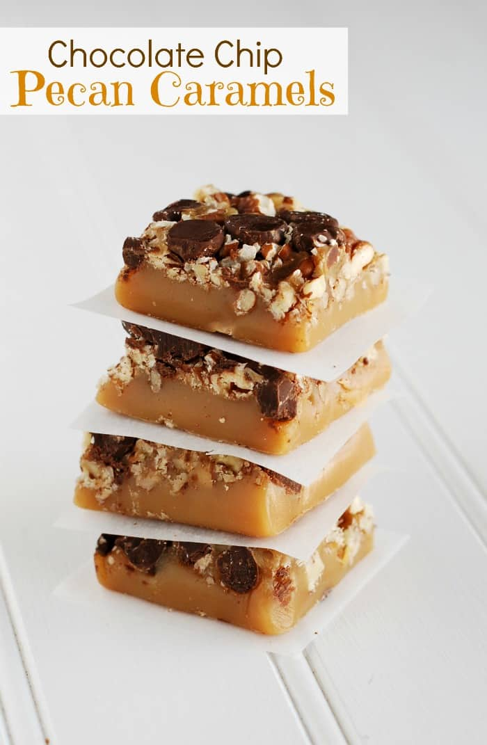 Chocolate Chip Pecan Caramels Recipe