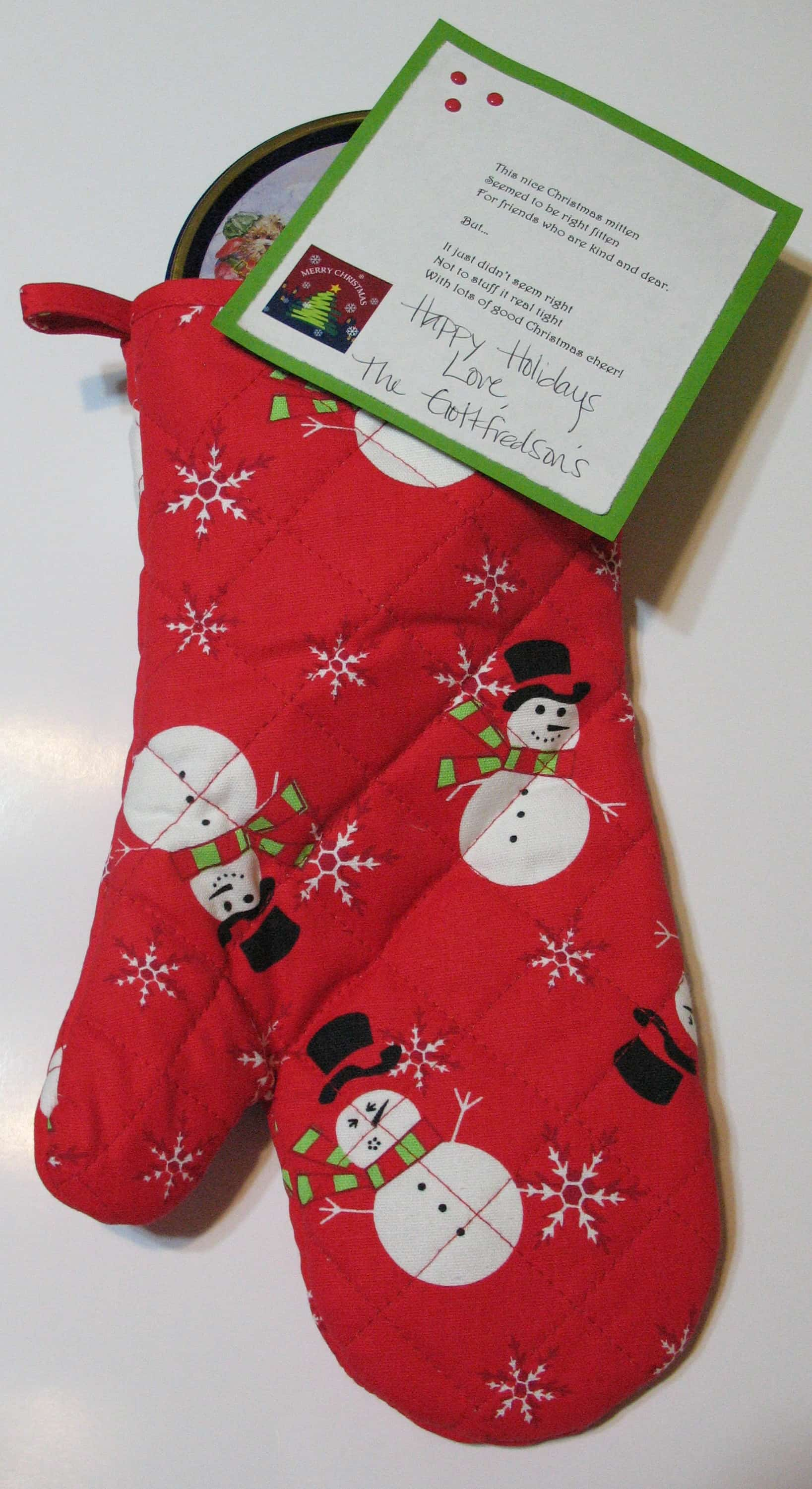 christmas gift idea oven mitt