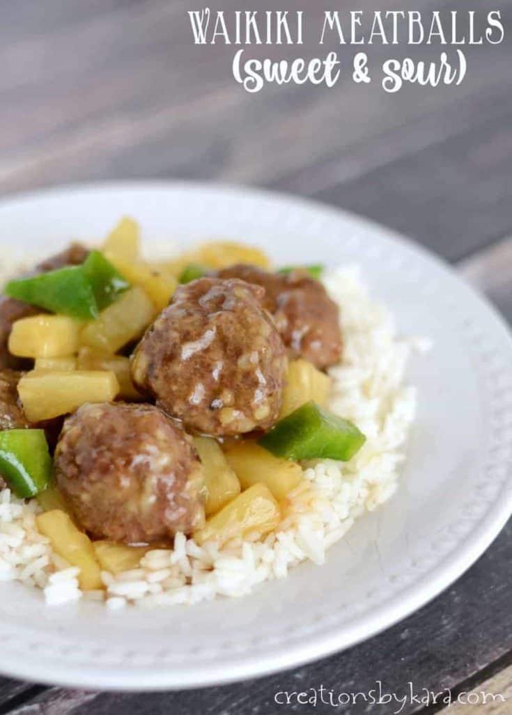 Waikiki Sweet and Sour Meatballs