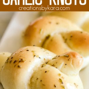 homemade garlic knots pinterest pin