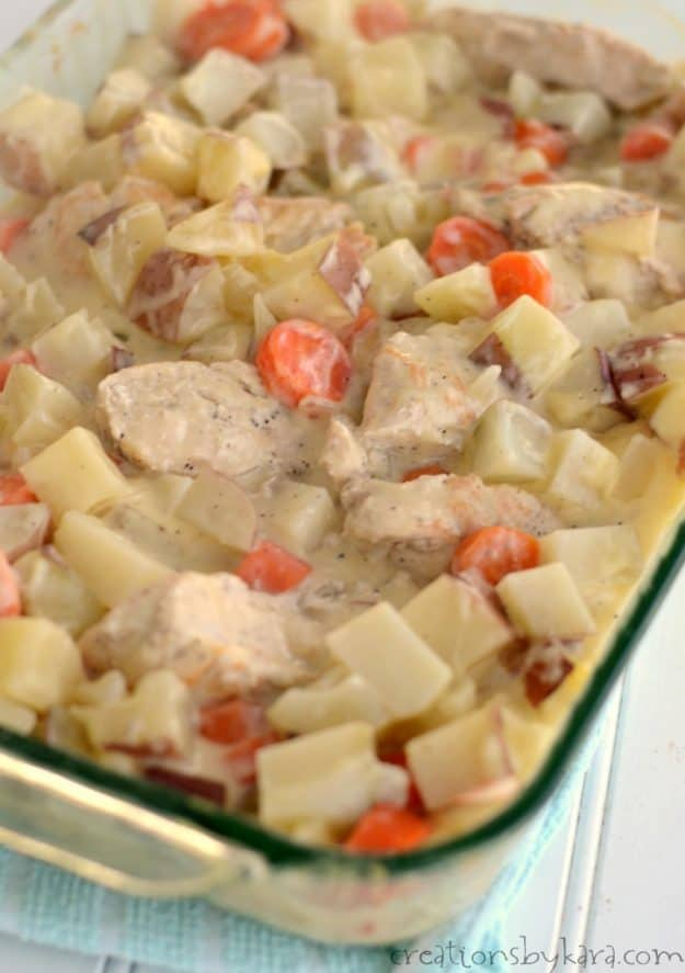 Dutch oven chicken is a family friendly recipe that is always well received.