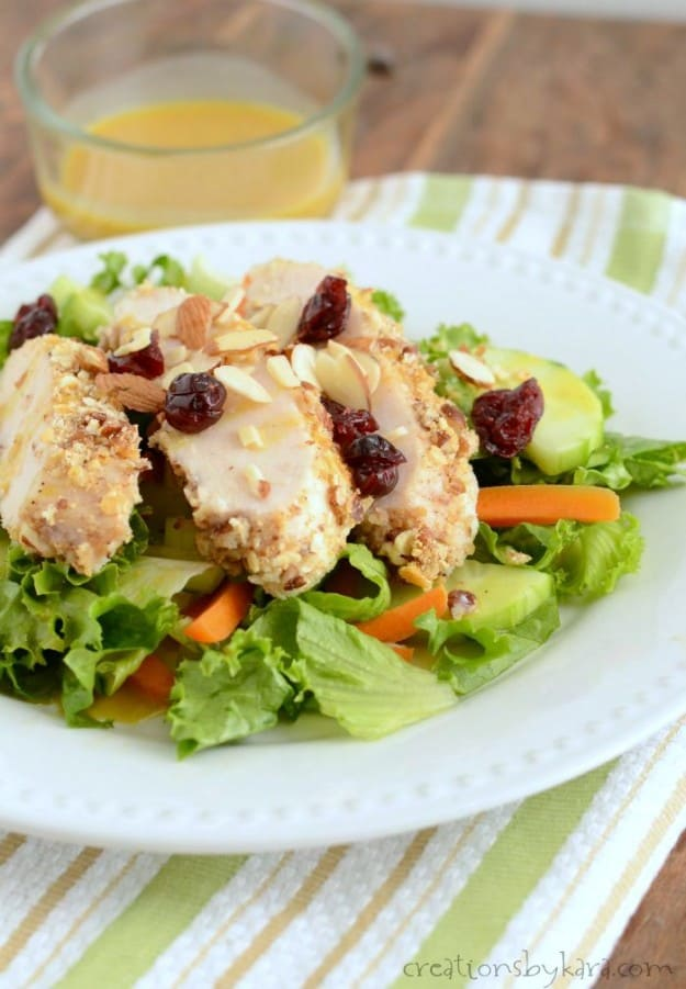 Pecan Crusted Chicken Salad- a great light summer meal!