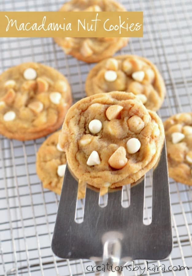 Recipe for White Chip Macadamia Nut Cookies