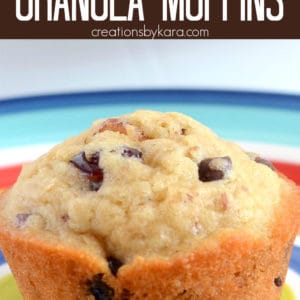 granola muffins with chocolate chips pinterest pin
