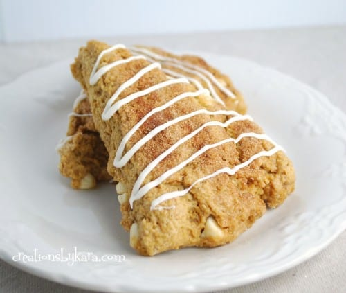 white chocolate pumpkin scones 011