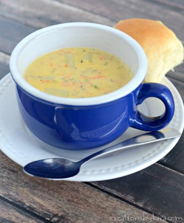 Rich and creamy, this Cheeseburger Soup is a perfect recipe for winter nights!