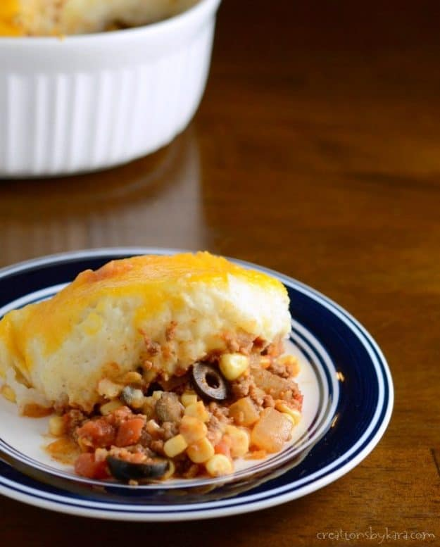 Spicy Shepherd's Pie - a Mexican twist on a classic recipe. A perfect dinner recipe that is sure to become a family favorite!