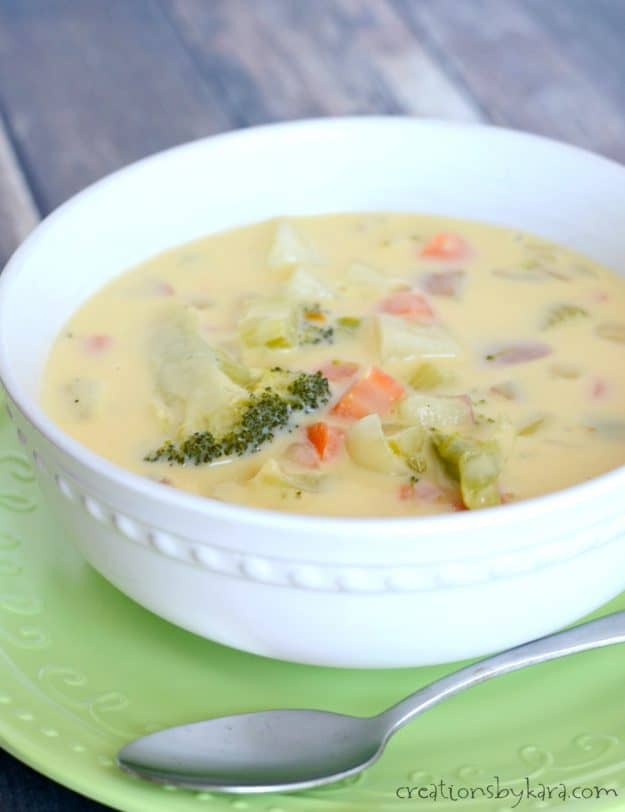 Broccoli Cheese Soup - a hearty and delicious soup recipe