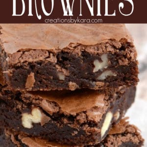 chewy brownies recipe pinterest pin