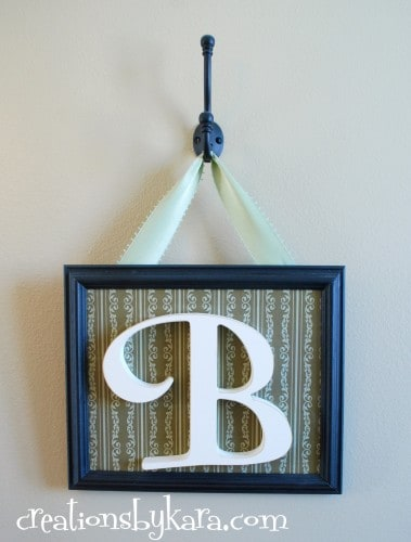 diy-framed monogram