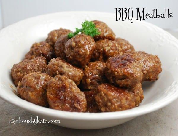 BBQ-meatballs