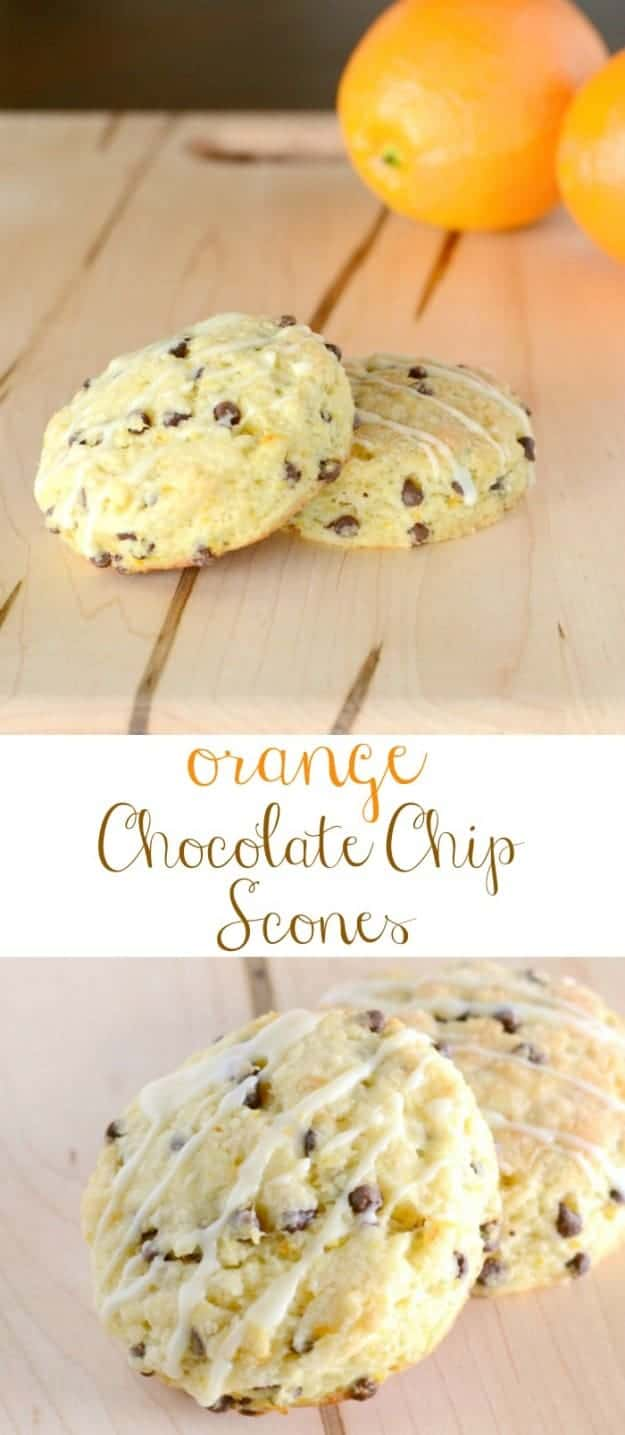 These Orange Chocolate Chip Scones are a family favorite!