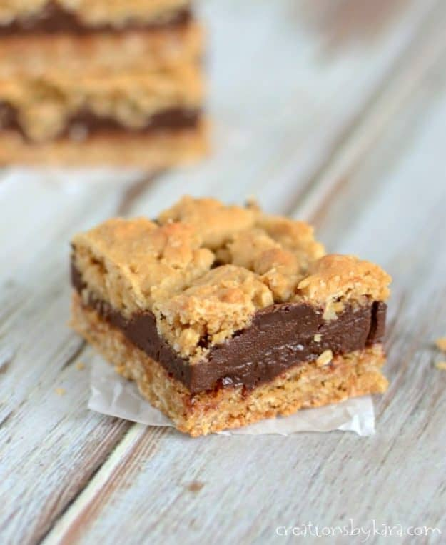 Decadent Oatmeal Fudge Bars - a great bar recipe that everyone loves!