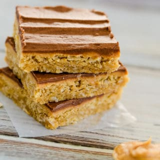 best oatmeal peanut butter bars with chocolate frosting