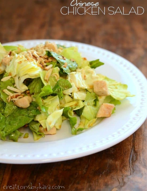 With chunks of chicken and a light Asian dressing, this Chinese Chicken Salad is always a hit!
