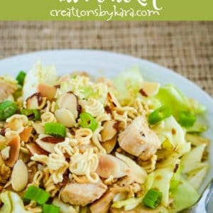 chinese ramen salad recipe collage