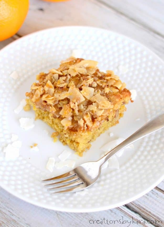 coconut orange coffee cake - a yummy and hearty coffee cake recipe