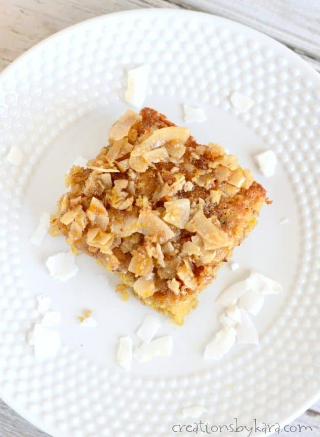 Oats make this orange coffee cake hearty, and a crunchy topping makes it extra yummy. A perfect spring coffee cake recipe.