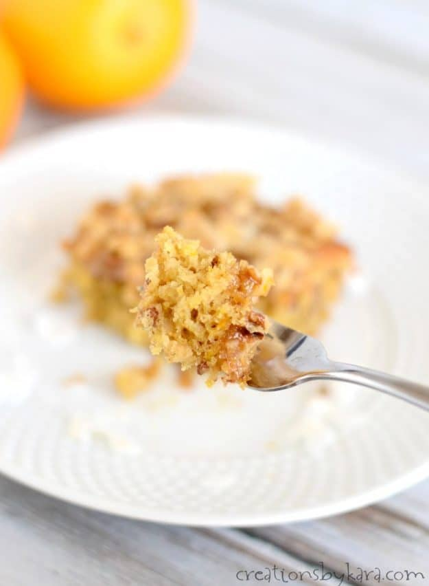 Every bite of this Coconut Orange Coffee Cake is packed with flavor. A perfect spring brunch recipe.