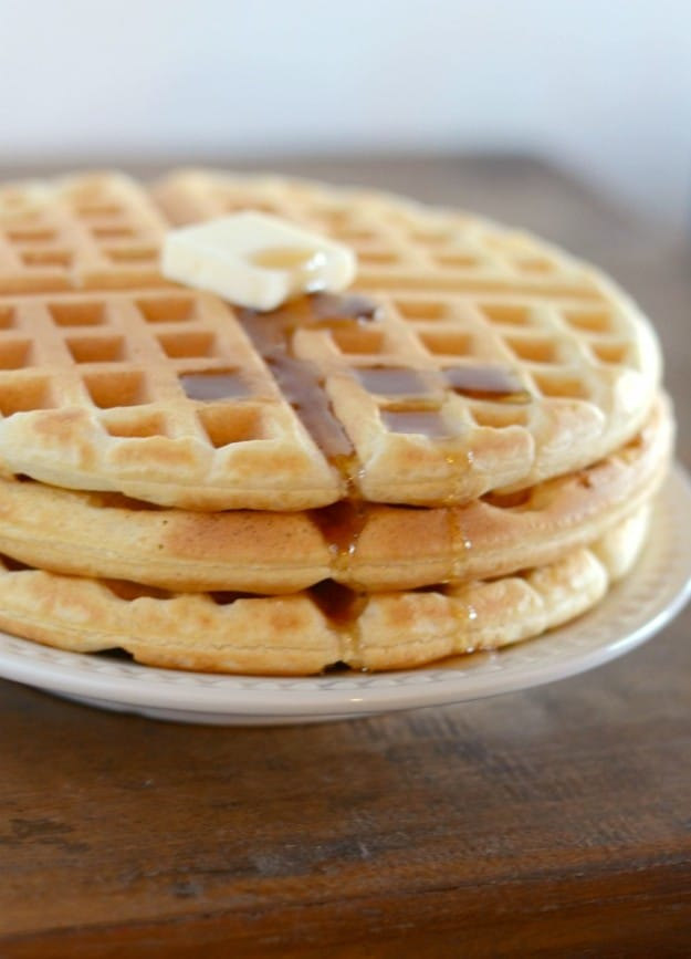 You can make waffles from scratch in about 5 minutes!