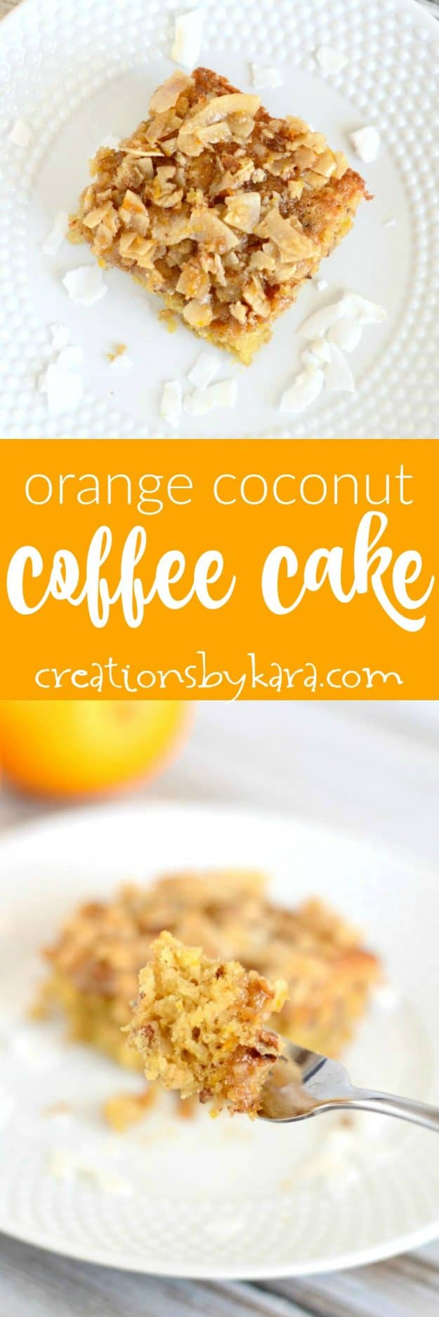 With the fresh taste of orange and a crunchy coconut topping, this Coconut Orange Coffee Cake is a perfect spring brunch recipe! Such a tasty coffee cake recipe.