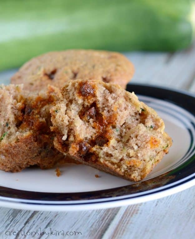 Cinnamon Chip Zucchini Bread or Muffins. My family loves this zucchini recipe!