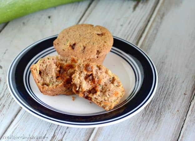 Cinnamon chips make these zucchini muffins extra tasty. You can make zucchini bread if you prefer.