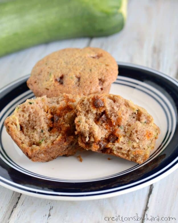 Cinnamon Zucchini Muffins are a family favorite. The cinnamon chip makes this zucchini bread recipe extra yummy!